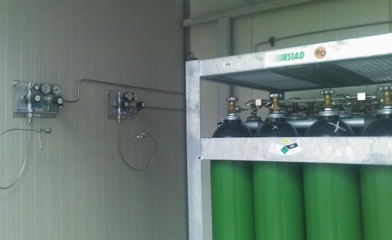 Instalatie de gaze tehnice Infomed